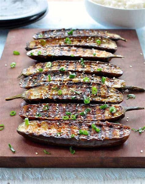 grilled miso glazed japanese eggplant recipetin eats