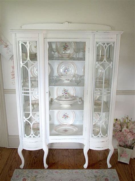 Vintage Curved Glass Curio Cabinet by Antique China Cabinets On Pinterest