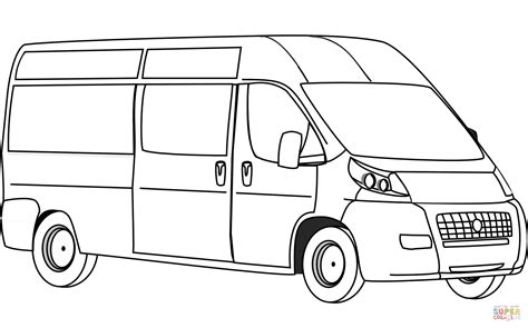 van coloring page  printable coloring pages