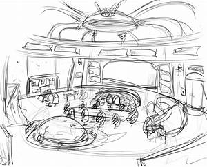 Inside Spaceship Sketch