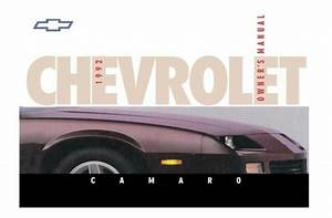 1992 Chevrolet Camaro Owners Manual User Guide Reference