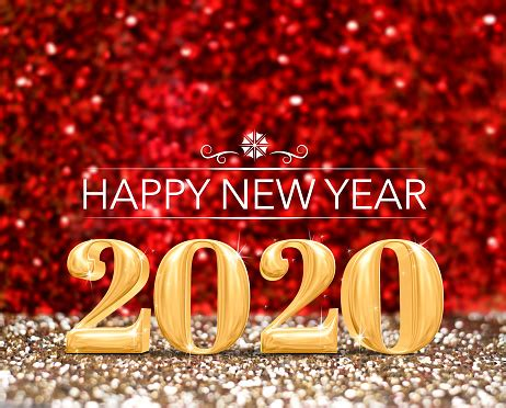 happy  year  year number  sparkling gold  red