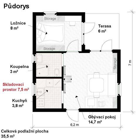 one bedroom cabin plans obytn 225 chata bez stavebn 237 ho povolen 237 pl 225 ny projekt pro 16553 | půdorys domu s jednou ložnicí