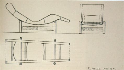 chaise dwg perriand furniture design here now the