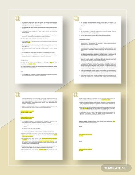 Commercial Purchase Agreement Template [Free PDF] - Word ...