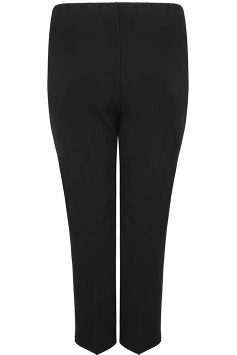 black pull  ribbed bootcut trousers  size