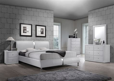 pc white enzo collection queen size platform bedroom set