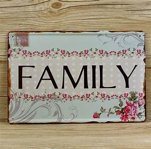 "New 2016 RZXD 036 Vintage tin signs ""FAMILY Postcards ..."
