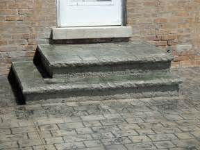 Stamped Concrete Patio Steps