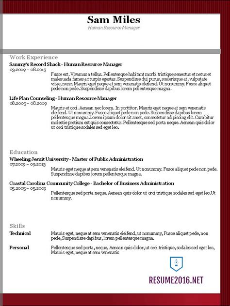 Chronological Resume Template 2016 resume templates 2016 which one should you choose