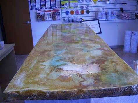 counter top table acid stain concrete countertop backyard ideas