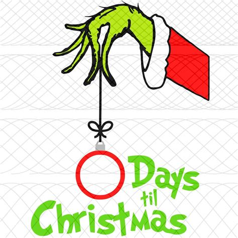 grinch hand christmas countdown svg png  studio cut
