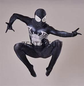 Venom Spider man Costume Spandex 3D Printing Black Venom ...