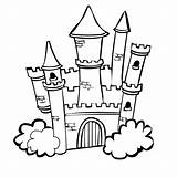 Castle Coloring sketch template