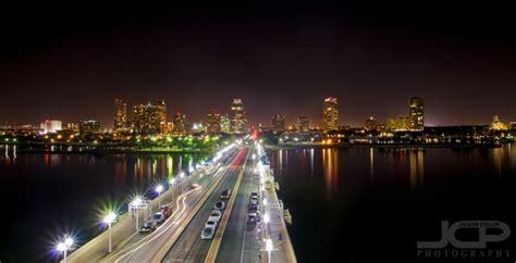 vivid st petersburg florida downtown skyline  night