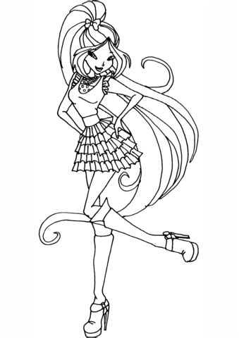 flora season  coloring page  printable coloring pages