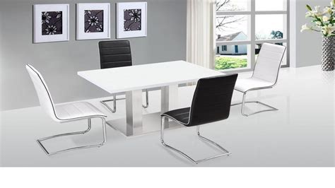 white dining table chairs ultra modern white high gloss dining table 4 chairs