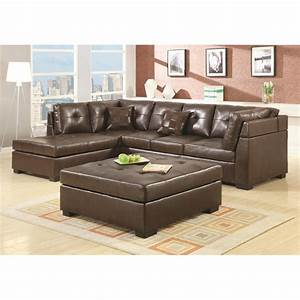 darie brown leather sectional sofa modern sofa company With brown sectional sofa