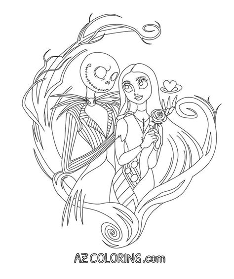 nightmare  christmas coloring page coloring pages