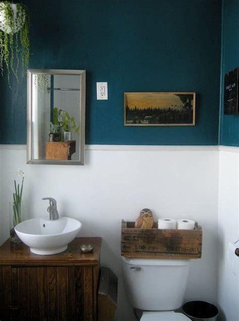 paint color portfolio dark blue bathrooms