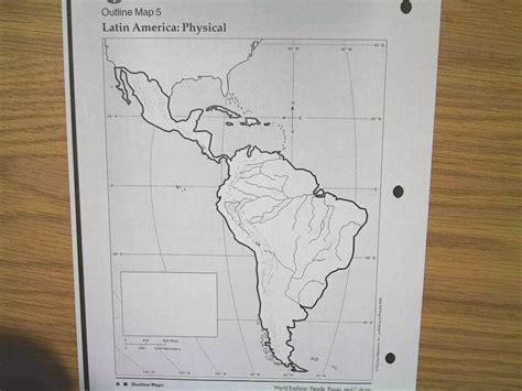 bt wilson bobcat social studies physical map  latin america