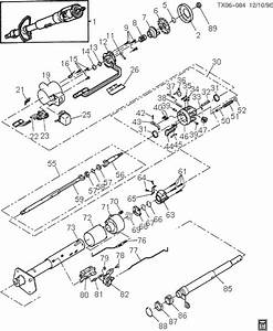 Exploded View For The 1993 Chevrolet Blazer Tilt