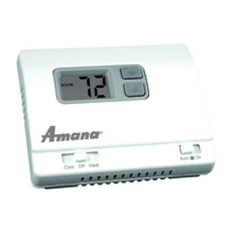 amana 2246007 ptac wall thermostat heat heat non programmable cool running