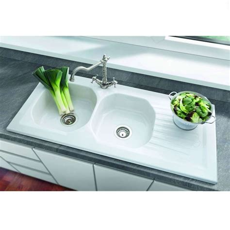 kitchen sinks uk villeroy boch ravel 2 0 bowl ceramic sink kitchen 3063