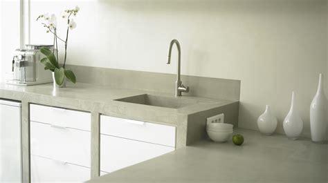 paillasse cuisine beton cire salle de bain couleur