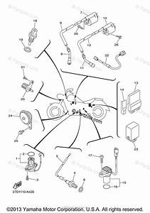 Yamaha Motorcycle 2013 Oem Parts Diagram For Electrical