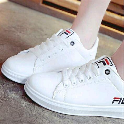 Sepatu Fila Putih Original jual sepatu wanita kets putih sneaker fila lucu murah