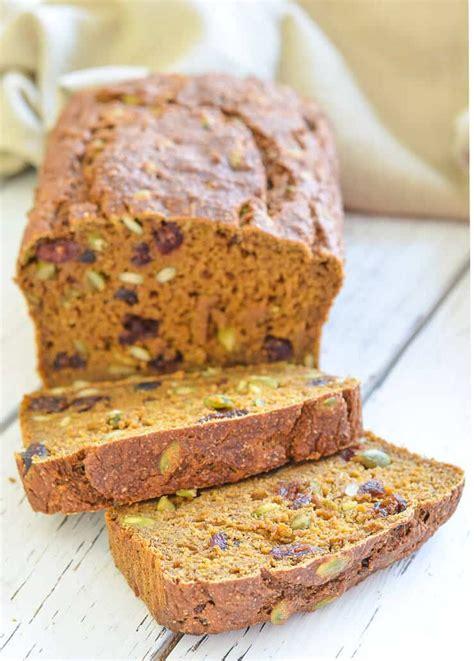 vegan pumpkin bread with cranberries pumpkin seeds a virtual vegan