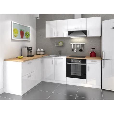 cuisine de a 0 z cosy cuisine complète 2m80 laqué blanc achat vente