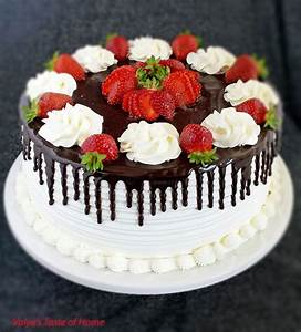 Honey Chocolate and Strawberry Cake - Valya's Taste of Home