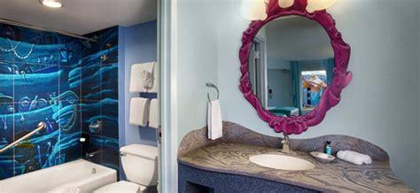 mermaid themed bathroom disney world themed hotel rooms royal cars