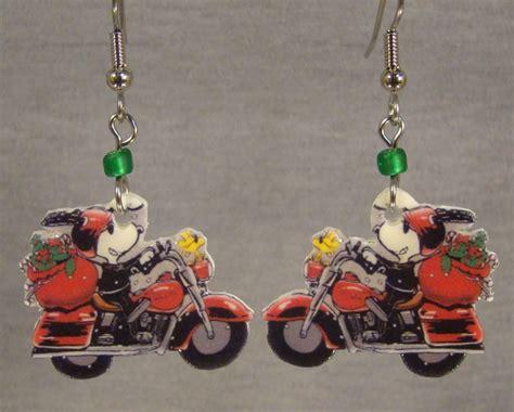 Snoopy Motorcycle Dangle Earrings