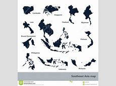 Southeast Asia map stock vector Illustration of community