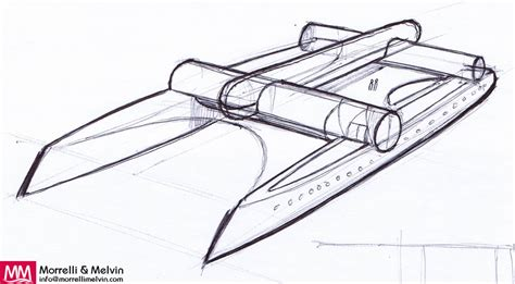 Catamaran Technical Drawing by Design Concepts Gallery Morrelli Melvin Design And
