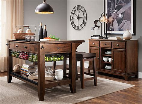 raymour and flanigan kitchen islands kona 3 pc kitchen island set merlot raymour flanigan 7629