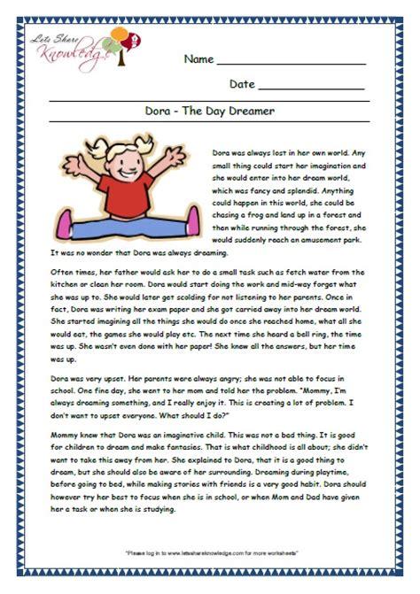 comprehension worksheets for grade 3 worksheets for all