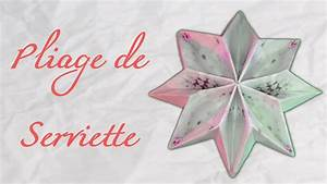 Serviette De Noel En Papier : pliage serviette papier rose de noel ~ Melissatoandfro.com Idées de Décoration