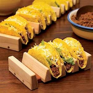 No-tip taco holder Woodworking Plan from WOOD Magazine