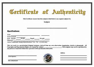 certificate of authenticity template peerpex With artist certificate of authenticity template