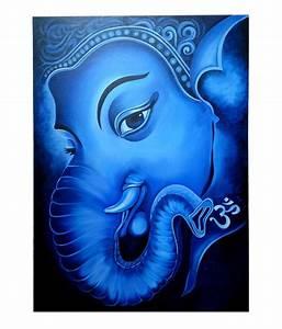 Altamira Lord Ganesha Oil Painting on Canvas 29.5 X 39.5 ...