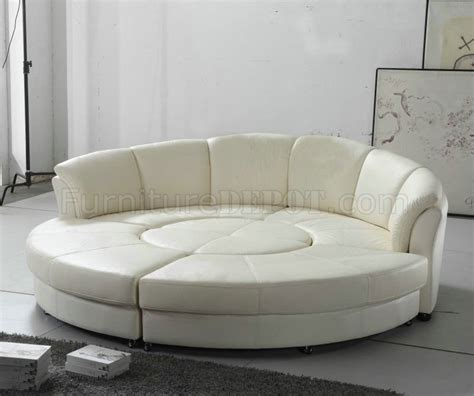 Circle Loveseat by 2276 Circle Sectional Sofa In White Bonded Leather By Vig