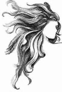 Long Wavy Hair Drawing