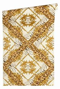 tapete versace home zebra ornamente braungold metallic 34904 3 With balkon teppich mit tapeten versace muster