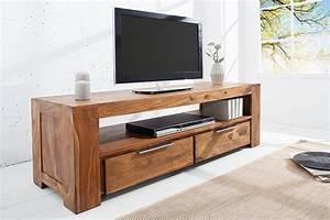 Tv Board Sheesham : massives tv board makassar 130cm lowboard zwei schubladen aus sheesham einzigartige maserung ~ Indierocktalk.com Haus und Dekorationen