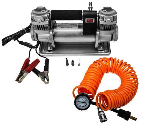 2 zylinder 10 bar 12v kfz leistungs kompressor land rover defender auto lkw pkw