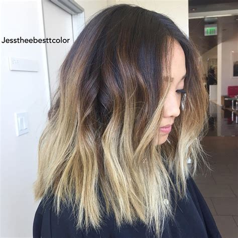To Ombre Hair by Enchanting Ombre Lob Hairstyles Hairdrome